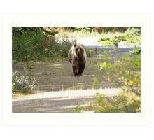 This Grizzly Charged Me Art Print