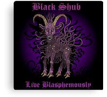 Black Shub Canvas Print