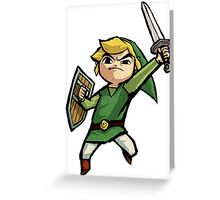 Link Wind Waker Greeting Card