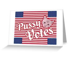 Pussy Votes RECTANGLE Format Greeting Card