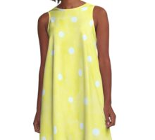 Old Styled Yellow A-Line Dress