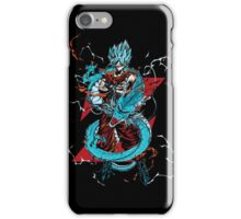 dragon ball super saiyan goku god iPhone Case/Skin
