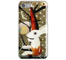 Bunny red special flower chair chubby birdy iPhone Case/Skin