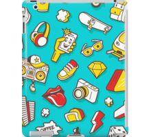 Teal Retro Street Urban Style iPad Case/Skin