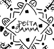 DG Pattern Drawing Flower Sticker