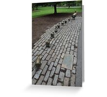 Make Way for Ducklings Study 4  Greeting Card