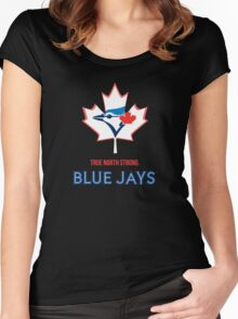 True North Strong Blue Jays Women's Fitted Scoop T-Shirt