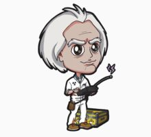 BTTF - Back to the Future 1985 Dr. Emmett Brown Doc Christopher Lloyd Chibi by Zphal