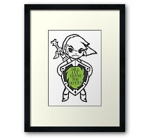 Link 'Will cut grass for rupees' Framed Print