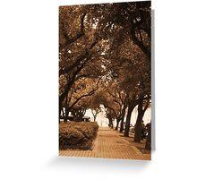 Covered Sidewalk Greeting Card