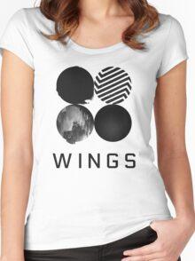 Bangtan Boys (BTS) 'WINGS' Women's Fitted Scoop T-Shirt