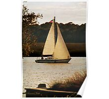 Sailboat ~ Heading Home Under Full Sail  Poster