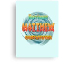 Hurricane Matthew Sunset Survivor  Canvas Print
