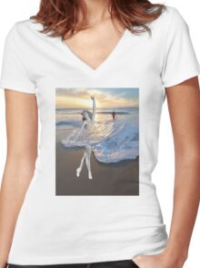 Like a Wave Women's Fitted V-Neck T-Shirt