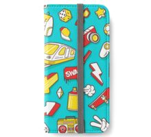 Teal Retro Street Urban Style iPhone Wallet/Case/Skin