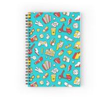 Teal Retro Street Urban Style Spiral Notebook