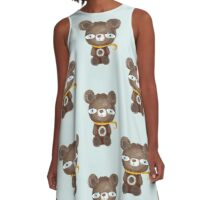 Old styled vintage teddy bear A-Line Dress