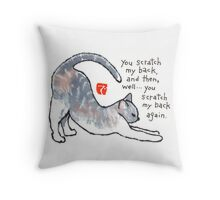 Stretching Cat Throw Pillow