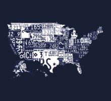 USA vintage license plates map Kids Clothes