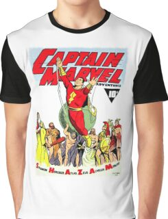 RETRO GOLDEN-AGE COMIC BOOK HERO, MAGIC WORD Graphic T-Shirt