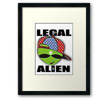 legal aliens green on the scene Framed Print