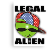 legal aliens green on the scene Canvas Print