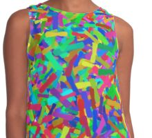 Colorful Abstract Paint Brushstrokes Contrast Tank