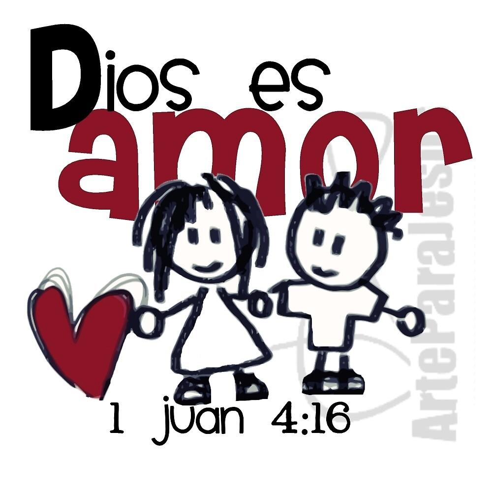 Quot Dios Es Amor Quot By Arteparajesus Redbubble