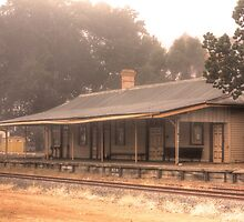 Bridgetown Railway Station, Western Australia by Elaine Teague