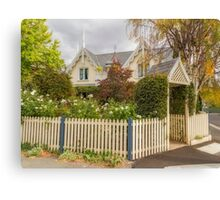 Hobart Cottage Living, Tasmania, Australia Canvas Print
