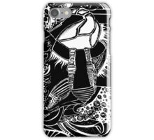 Black and White - Ostrich drawing iPhone Case/Skin