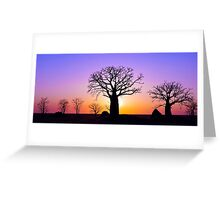 A Kimberley Sunset Greeting Card
