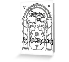 Waiting for an adventure Greeting Card