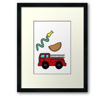 fireman empanada Framed Print
