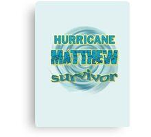 Hurricane Matthew Waves Survivor Canvas Print