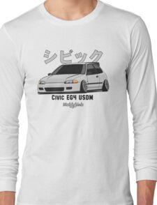 Honda Civic EG4 USDM (silver) Long Sleeve T-Shirt