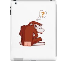 Monkey WTF??? iPad Case/Skin