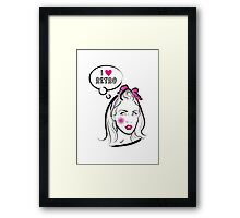 I love retro Framed Print