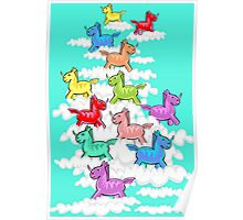 UNITED COLOR OF UNICORN Poster