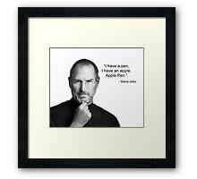 Apple pen steve jobs Framed Print