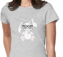 Signature white bunny Womens Fitted T-Shirt