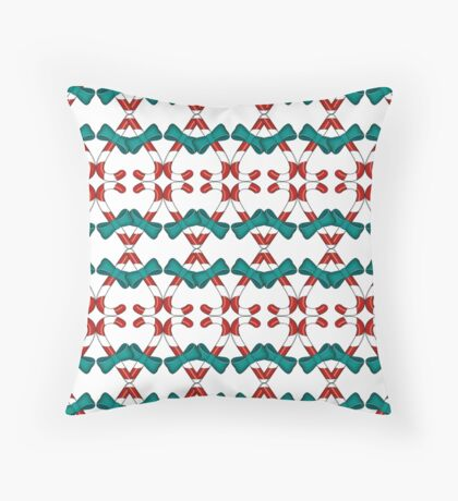 Christmas Candy Throw Pillow