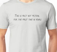Death Cab For Cutie - Fact Not Fiction Unisex T-Shirt