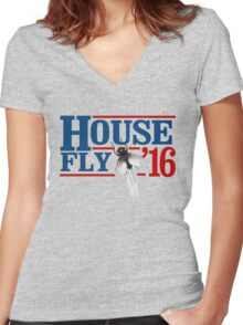 House Fly 2016 Women's Fitted V-Neck T-Shirt