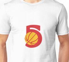Basketball Ball Five Retro Unisex T-Shirt