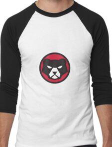 American Black Bear Head Circle Retro Men's Baseball ¾ T-Shirt