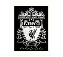 Liverpool FC Black Art Print