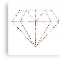 Rose gold diamond Metal Print