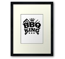 BBQ KING Framed Print