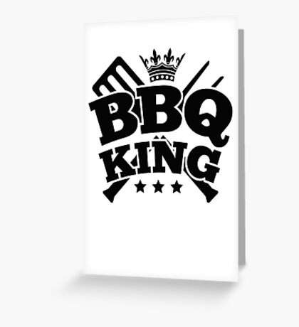 BBQ KING Greeting Card